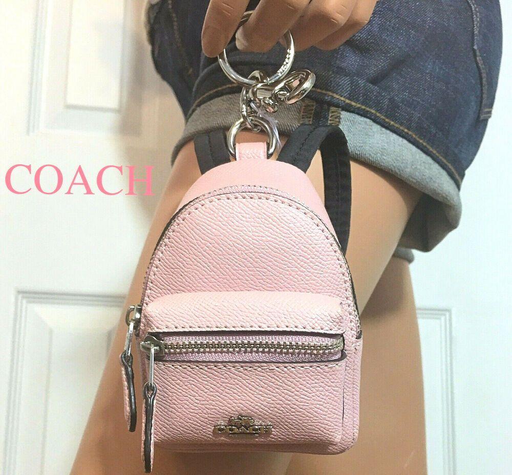 coach mini backpack coin purse