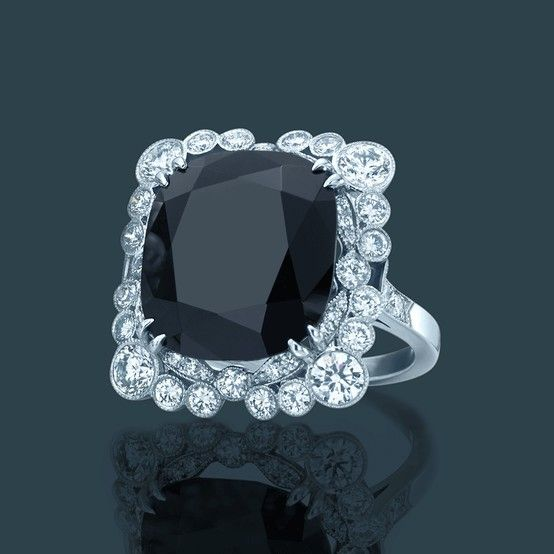 4ca7e637d Diamond and black onyx ring. From The Great Gatsby Collection, jewelry  inspired by Baz Luhrmann's film in collaboration with Catherine Martin.