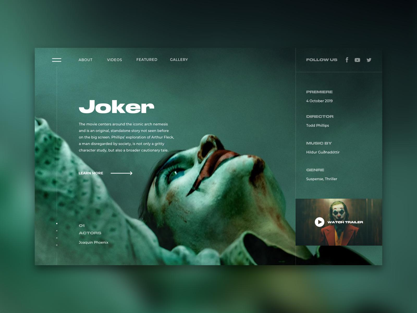 Movie Page Concept Clean Web Design Website Design Web Layout Design