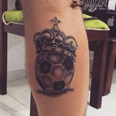Football Leg Sleeve Tattoo