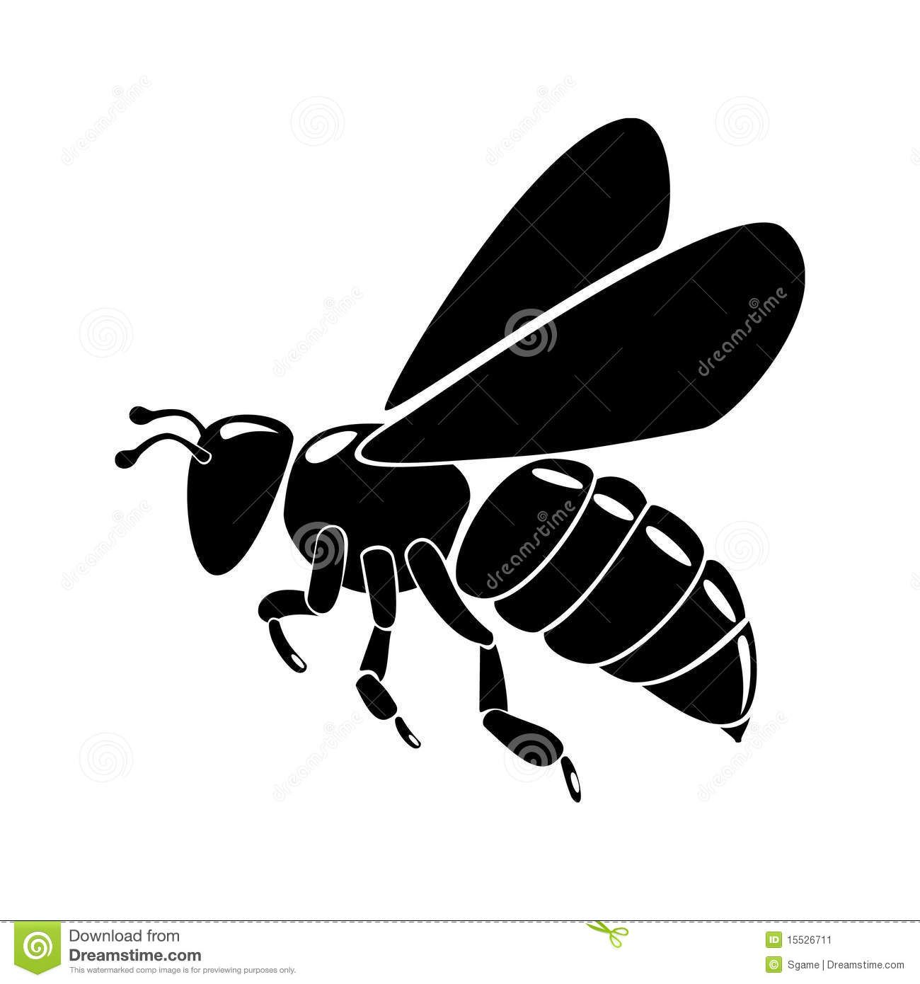 Images For Honey Bee Clipart Black And White Bee Silhouette Black Bee Bee Images