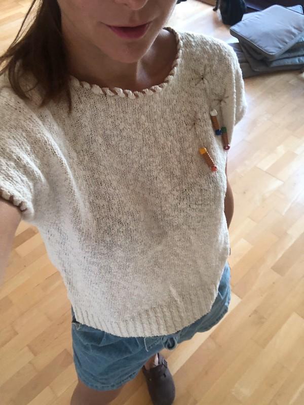 Strick Top Shirt Beige Gr 34 Xs Asos Vintage Retro Kleiderkreisel Hemd Vintage Tops Susse Blusen