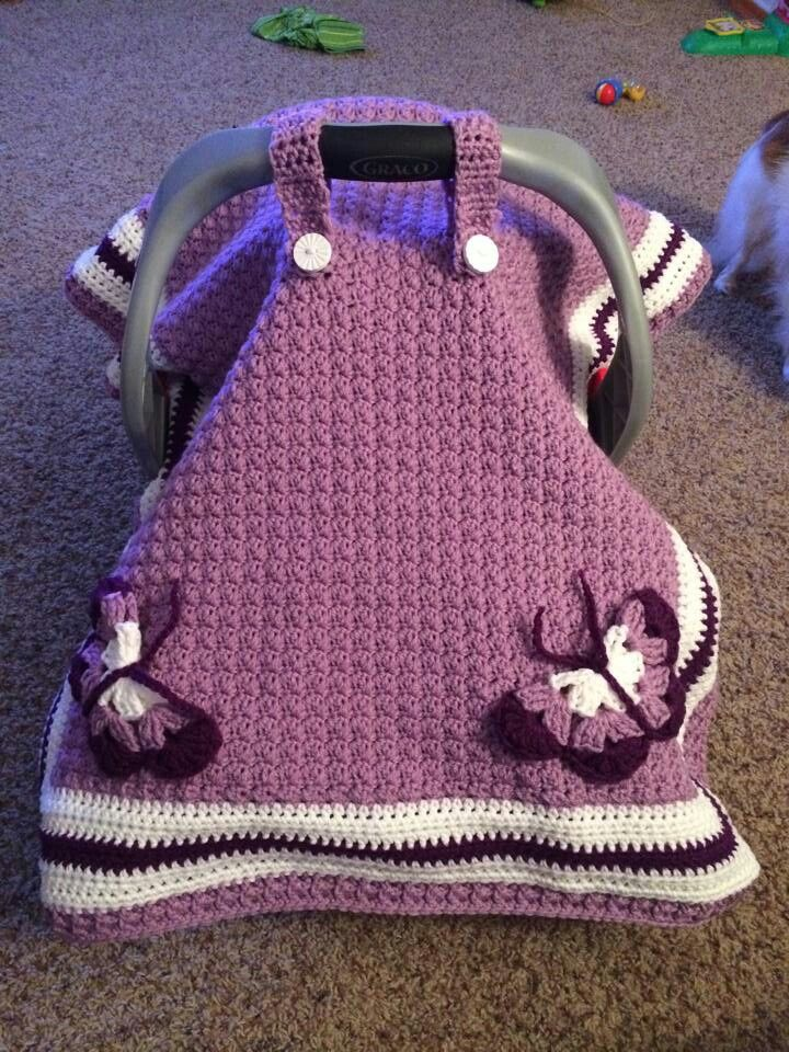 Carry Cover Crochet Baby Car Seat Tentseat Blanketscar Seat