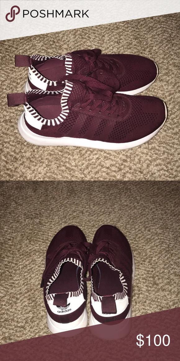 59db99094a3b Women s adidas sneakers ADIDAS WOMEN FLASHBACK PRIMEKNIT FLB (BURGUNDY    MAROON   FOOTWEAR WHITE) slightly worn