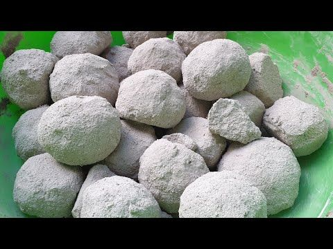 ASMR - SOFT DUSTY cement balls crumble/shave in tu