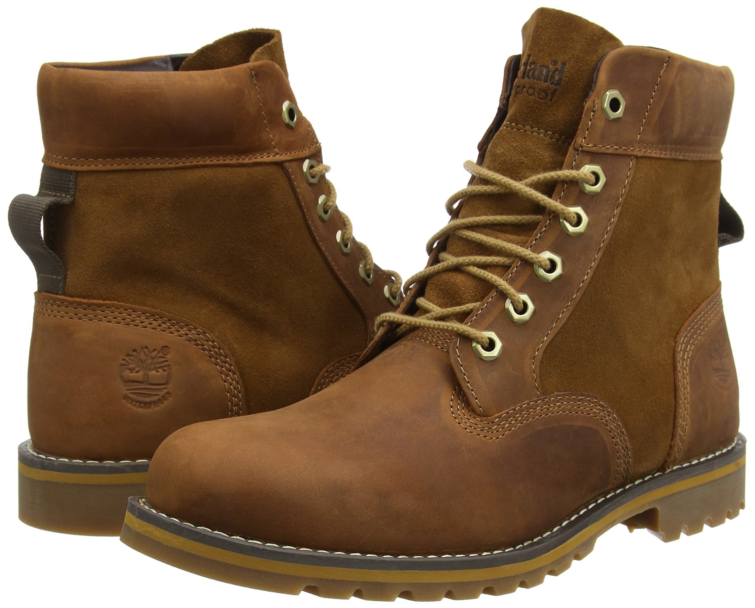 Timberland Larchmont Ftmlarchmont 6in Wp Boot Mens Ankle Boots Beige  Glazed Ginger