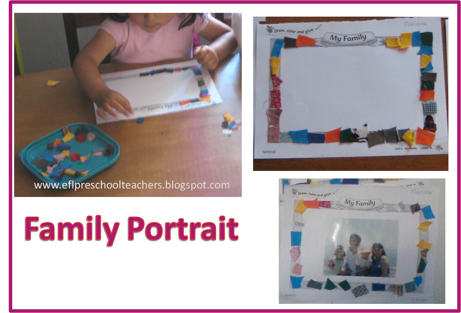 Esl Family Portrait Craft