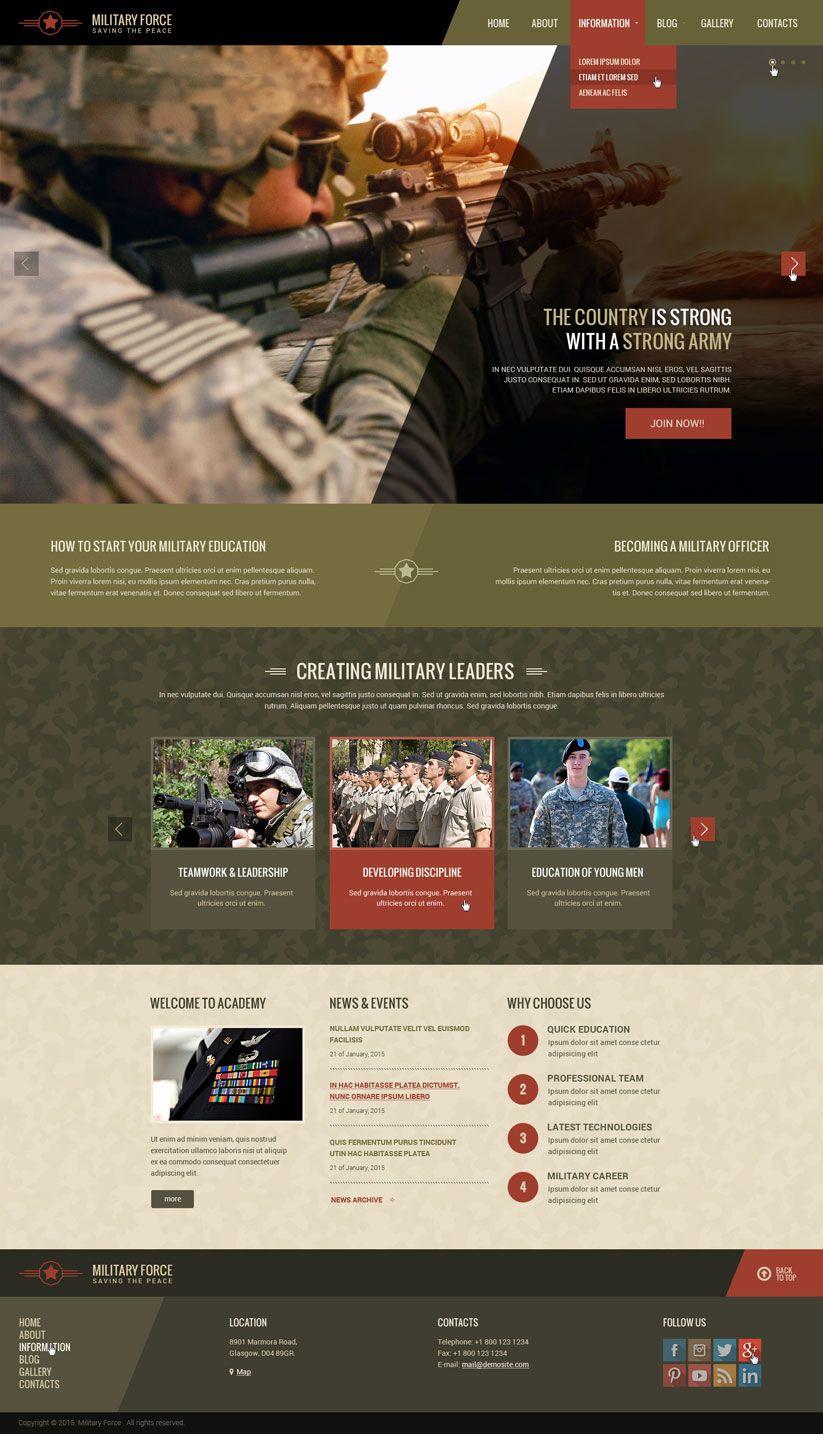 Military academy wordpress website template | VFW | Pinterest ...