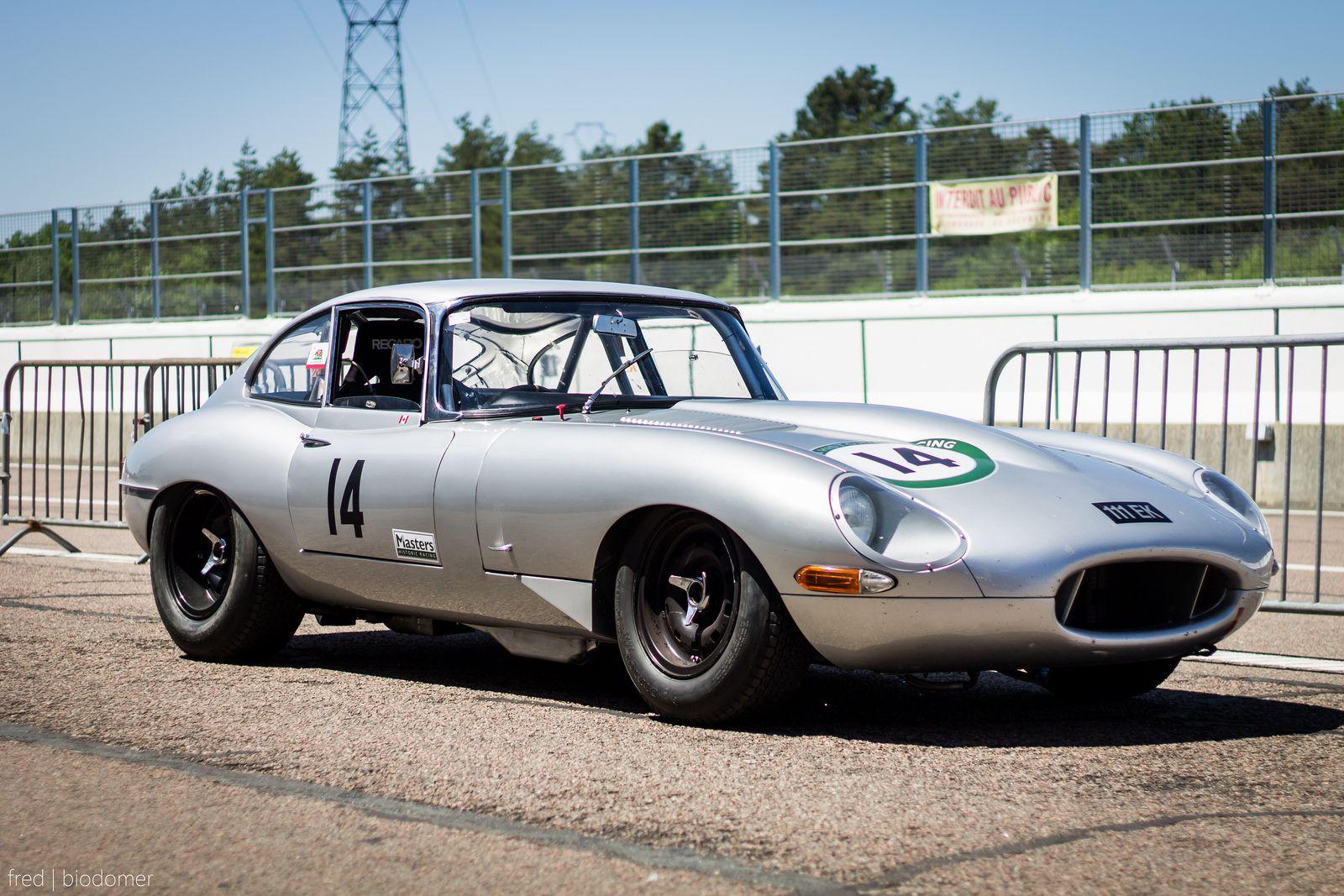 Classic Jaguar Type E Race Car