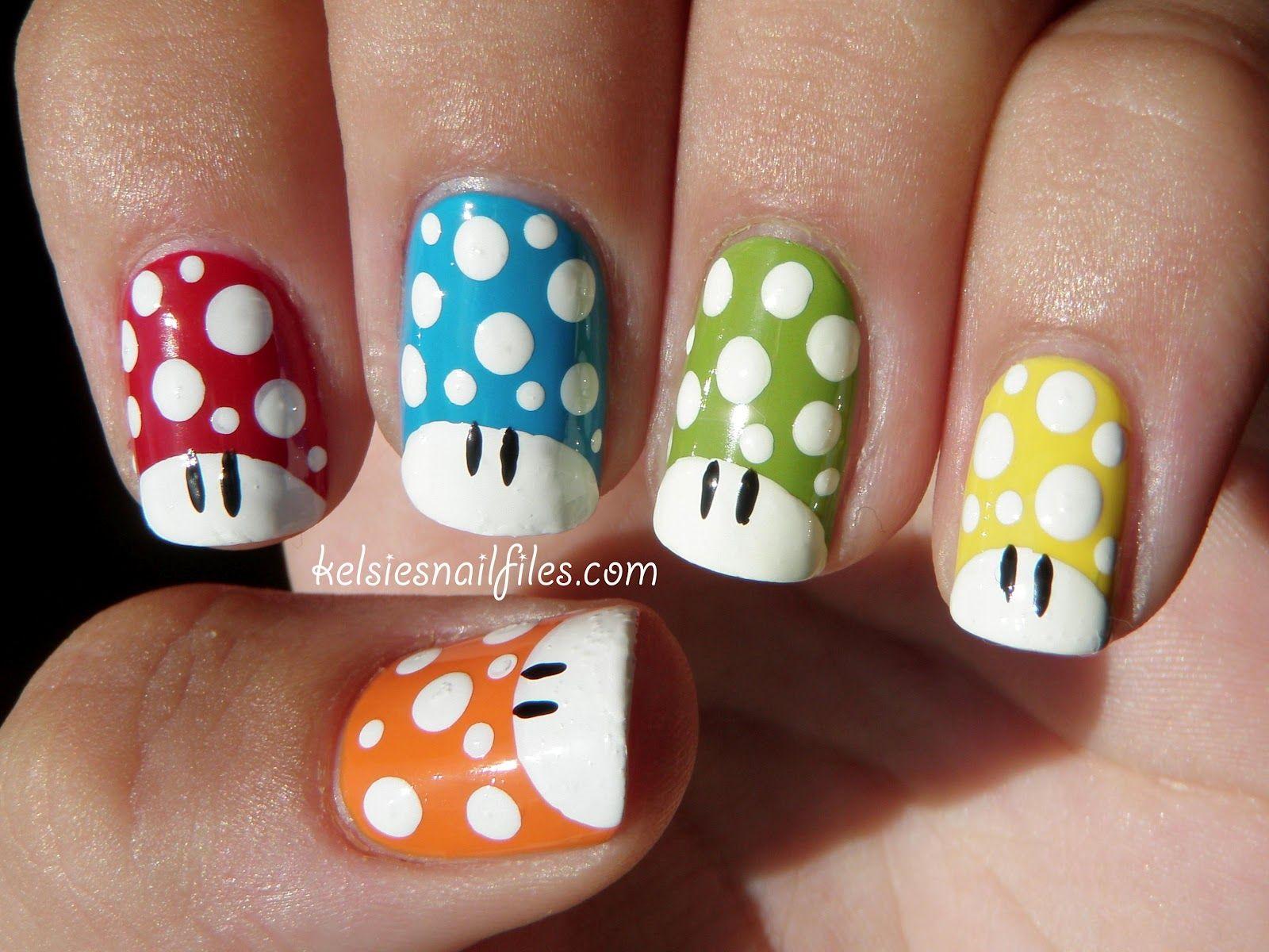 Kelsie\'s Nail Files: Geek Nail Challenge: Nintendo   Pinterest ...