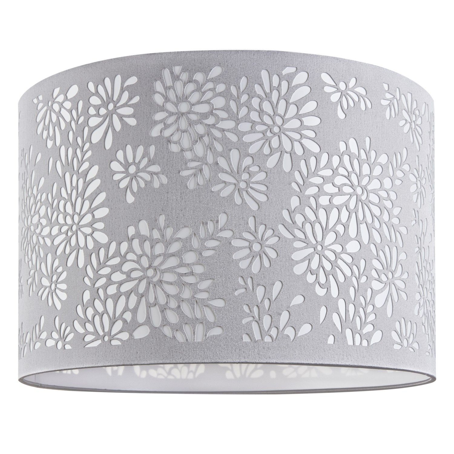 Buy Floral Laser Cut Dove Grey Lampshade