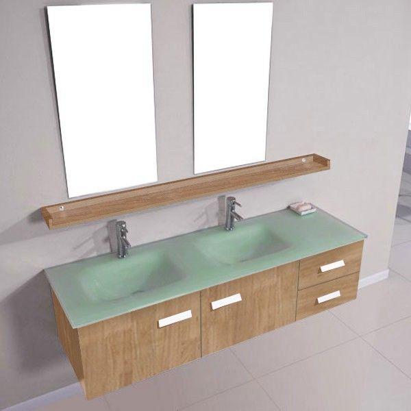 DIS025-1500SC Meuble salle de bain Scandinave | Plan vasque, Vasque ...