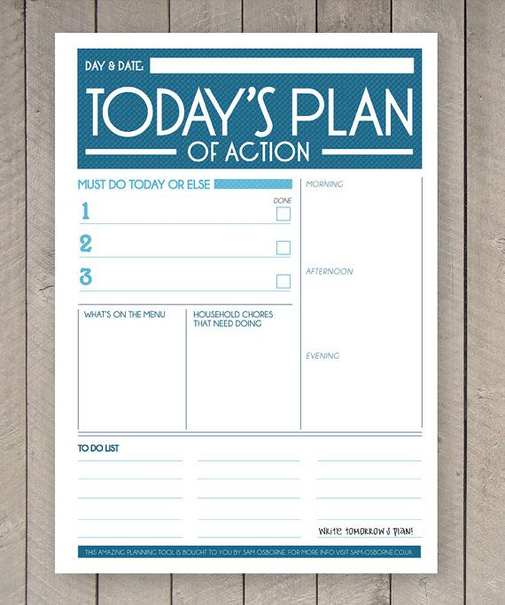 Printable Planner, Daily To Do List, Family Organiser, Daily ...