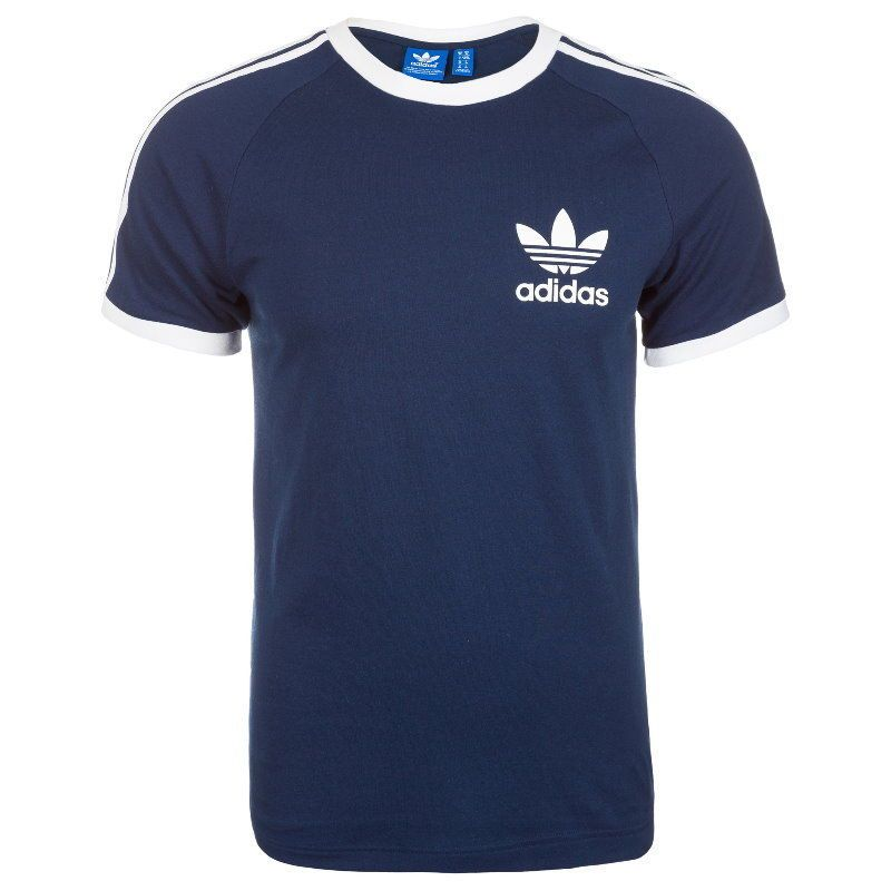 adidas trefoil 3 stripes t shirt in gold
