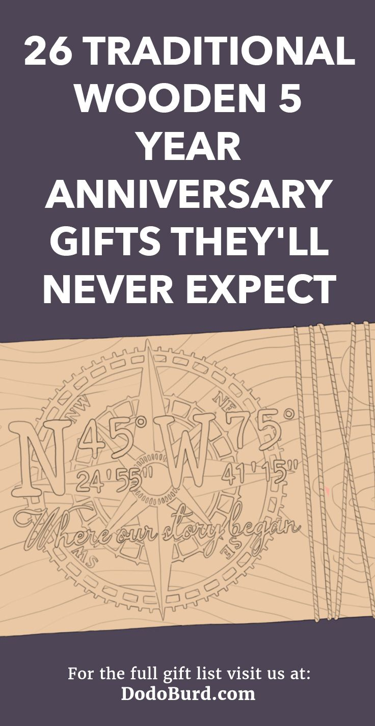 26 Traditional Wooden 5 Year Anniversary Gifts They'll
