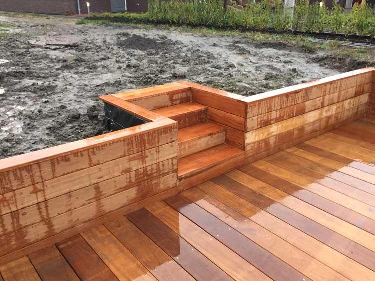 Trap maken tuin hout video houten buitentrap maken tuin for Trap tuin aanleggen