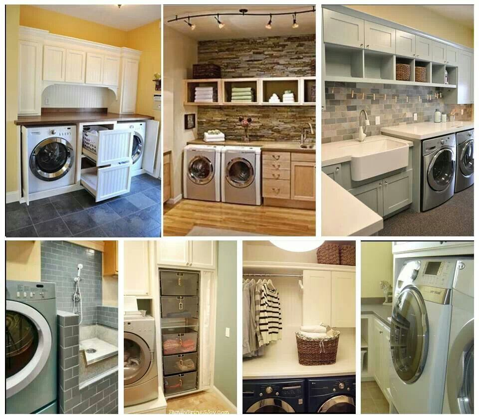 Perfect laundry room, but wash basin needs shower rack on top to ...