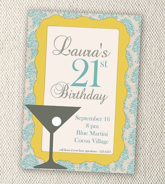 Personalized 21st Birthday Cards