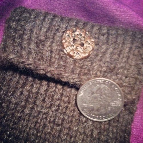 Square Brown Knit Coin Purse By Coppermagpie On Etsy 1200