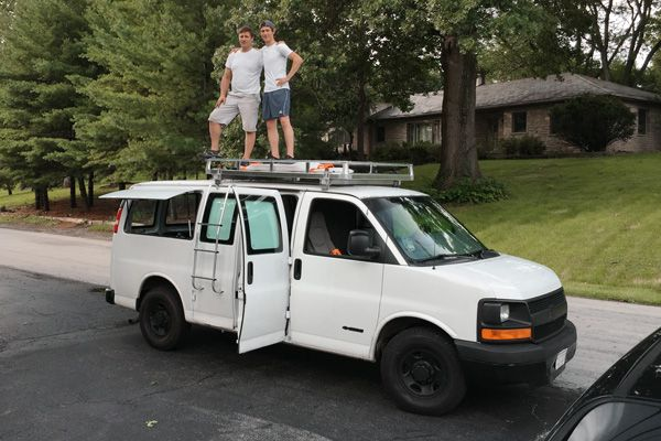 Rusty Cargo Van Converted Into A Mobile Studio Cargo Van Chevy