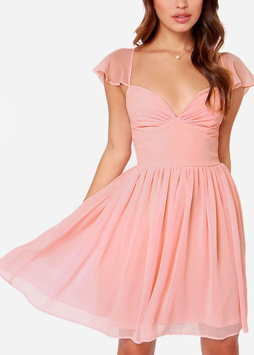 LULUS Exclusive Belle of the Ball Peach Dress | Pfirsich ...