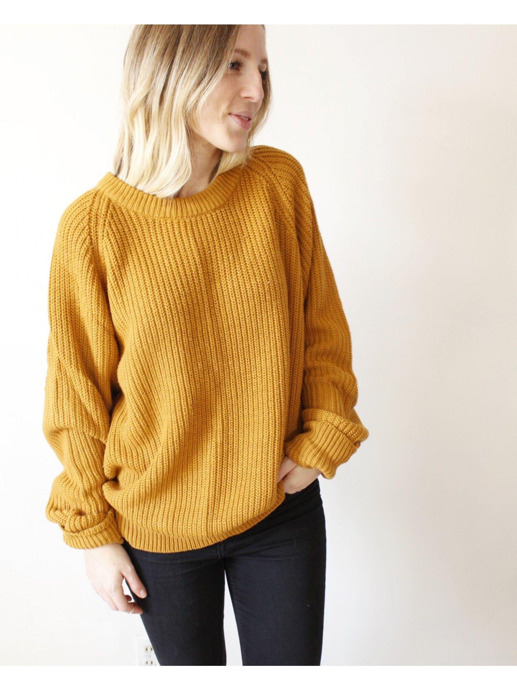 Vintage Mustard Oversized Boyfriend Sweater | shop d e a r society ...