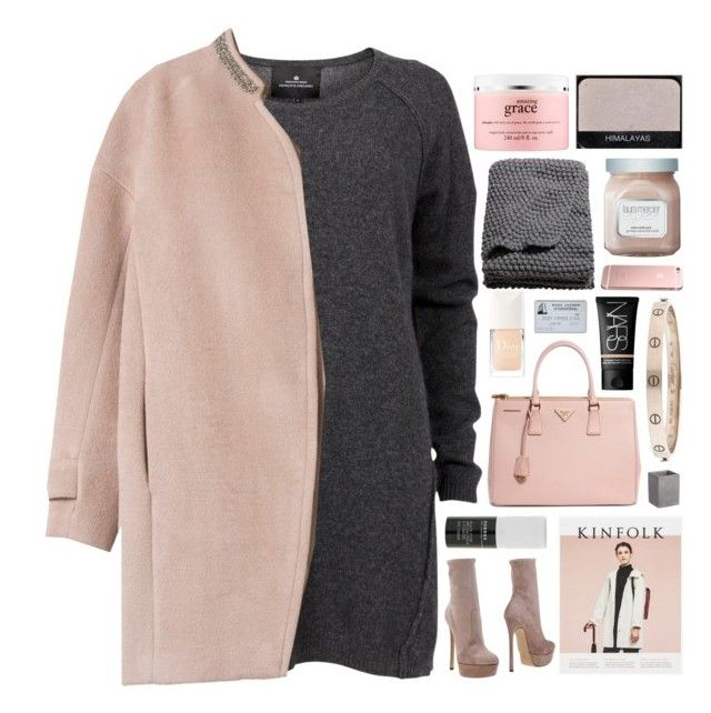 """missing more than just your body"" by annamari-a ❤ liked on Polyvore featuring Designers Remix, Casadei, NARS Cosmetics, philosophy, H&M, Prada, Christian Dior, Cartier, Korres and Laura Mercier"