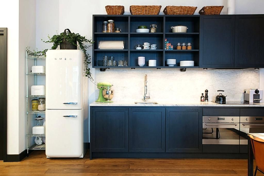 Sensational Navy Blue With White Kitchen Cabinets Dark Ikea Kitchen Interior Design Ideas Clesiryabchikinfo