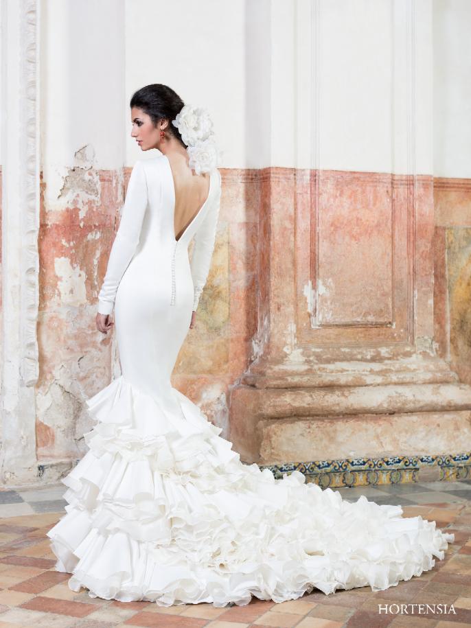 espalda del #vestido de #novia de la colección vicky martín berrocal