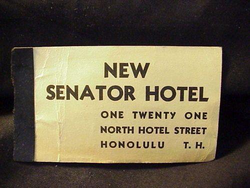 Vintage hawaiian business card new senator hotel n hotel street vintage hawaiian business card new senator hotel n hotel street honolulu t h reheart Images