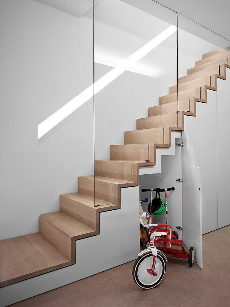Space-Saving New Ideas Combine Storage with the Staircase #staircaseideas
