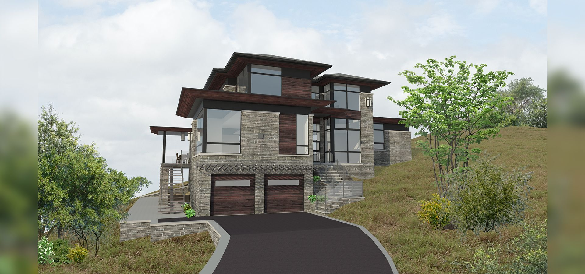 Texas Hillside Modern Portfolio David Small Designs Architectural Design Firm House On Stilts Modern House Plans Hillside House