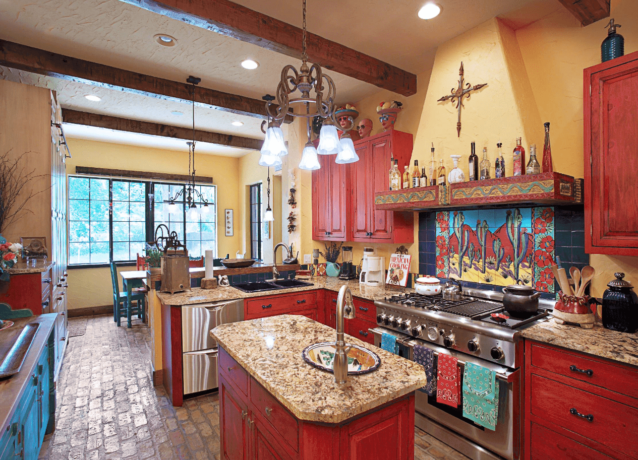 65 Southwestern Kitchen Ideas Photos In 2020 Mexican Style Kitchens Eclectic Kitchen Beautiful Kitchen Designs