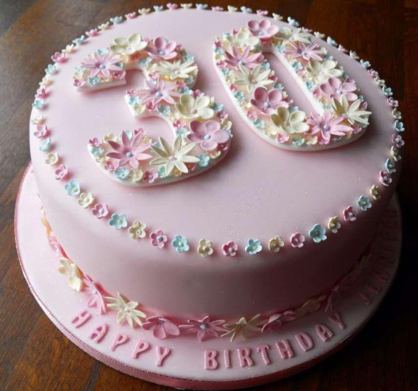 Картинки красивых тортов девушке на день рождение30 лет ...