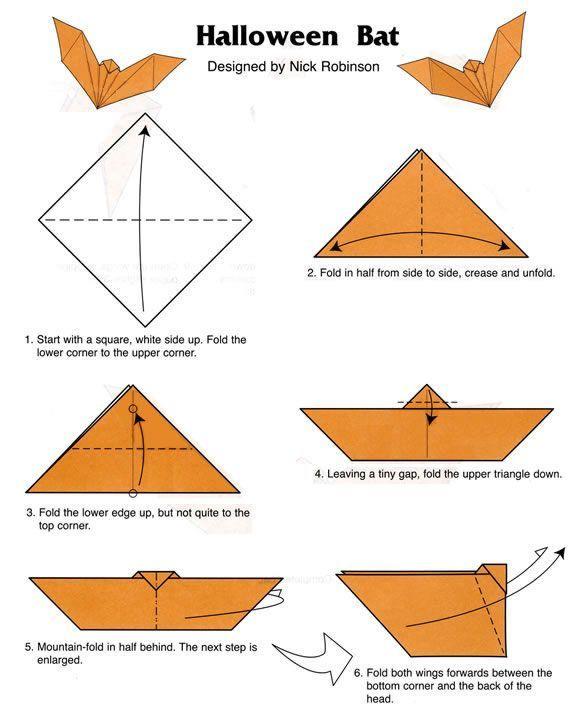 Astonishing Origami Halloween Bat Origami Tutorials Halloween Bats Wiring Database Wedabyuccorg