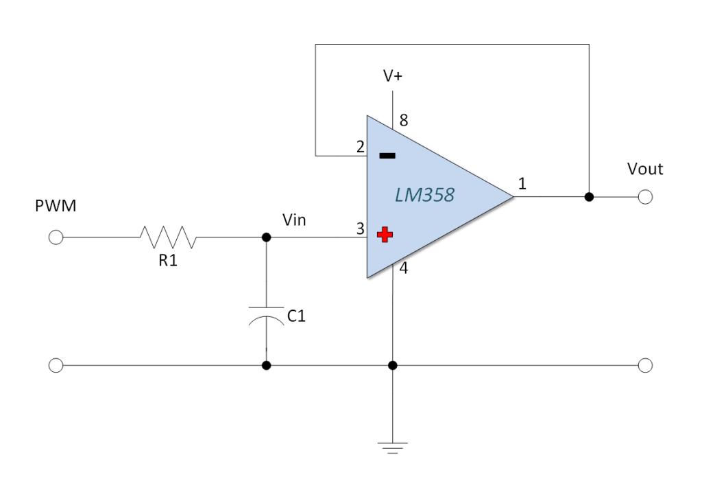 LM358 PWM to Voltage | Arduino, Voltage converter, Converter