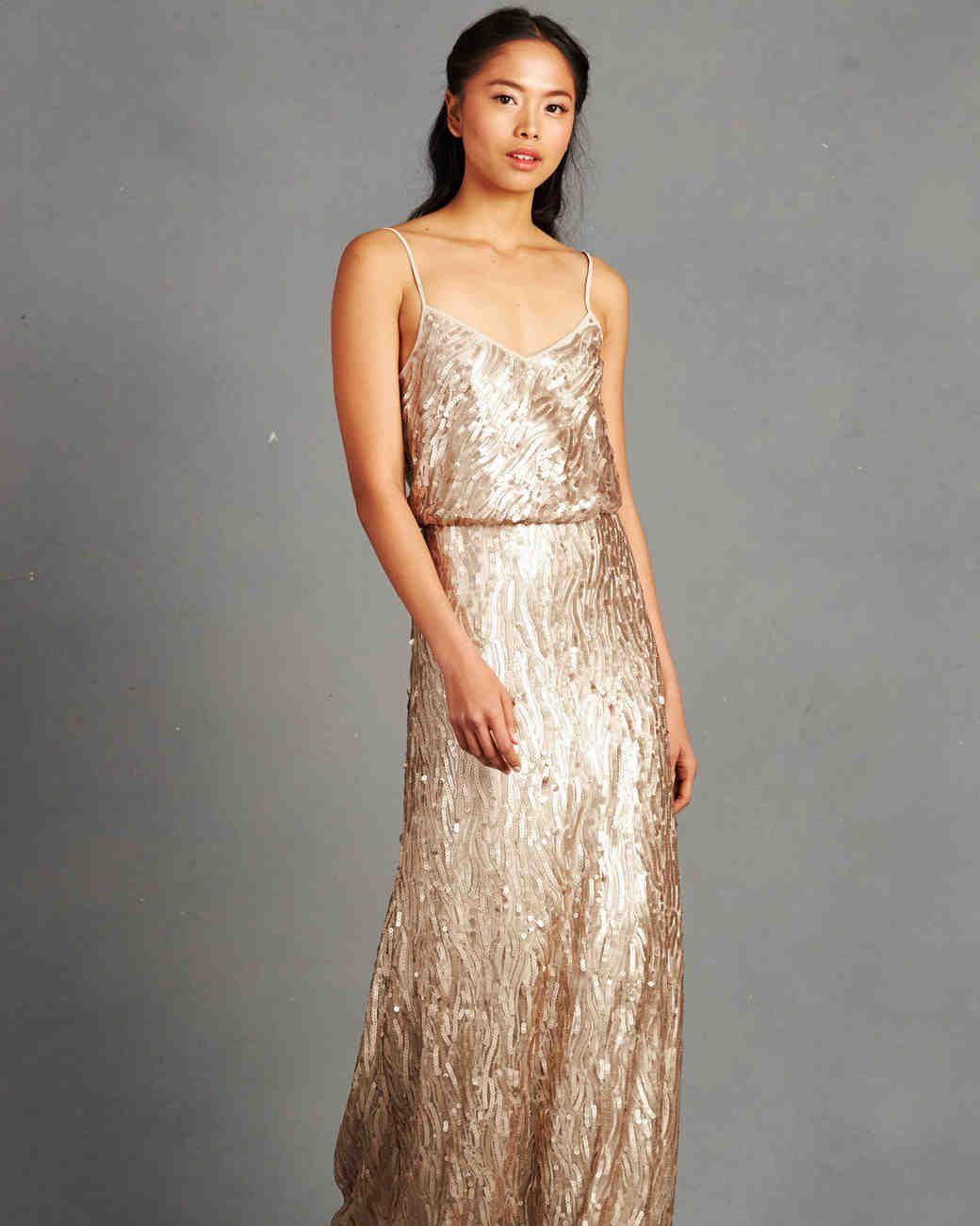 Wedding dresses with gold  bridesmaid dress  WEDDINGS  Pinterest  Dresses Gold