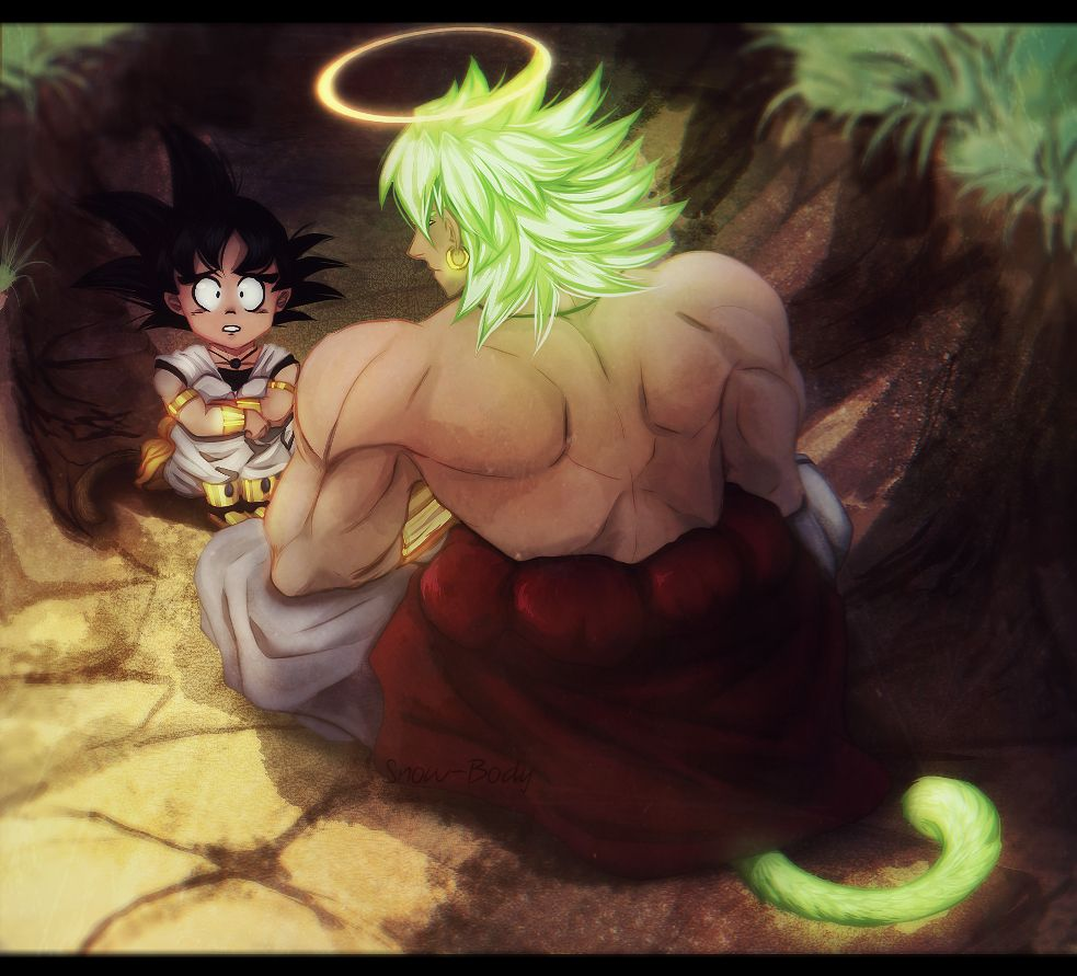 AU: kid Goku meets a dead Broly from an alternate universe ...