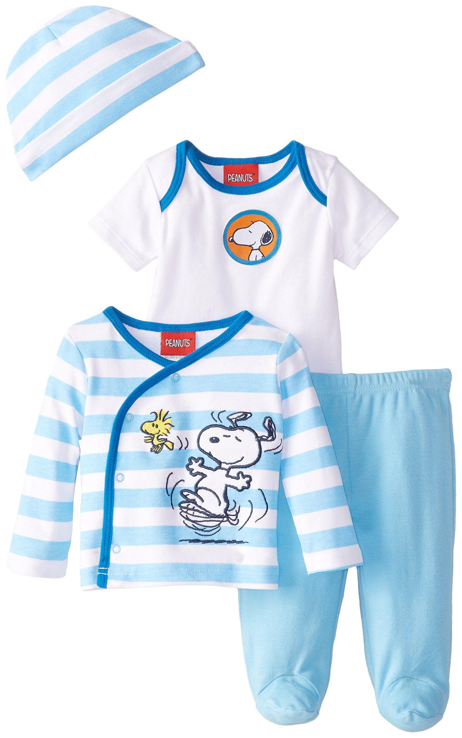 5d157b753 Peanuts Baby-Boys Newborn Boys Snoopy 4 Piece Gift Set
