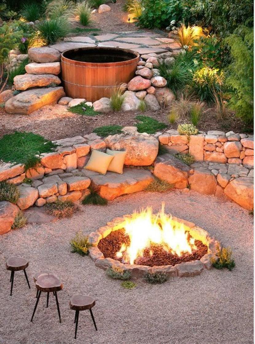 Inspirierend Badewanne Outdoor Garten Beste Wahl Cozy Up Next To This Amazing Fire