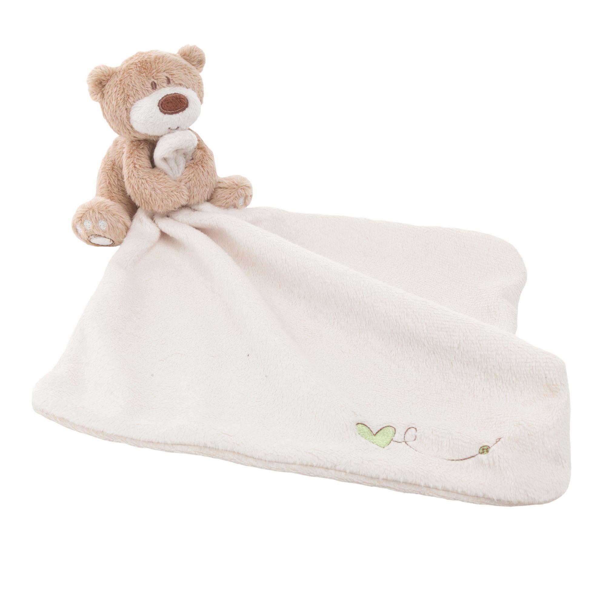 1*Cute Bear Blankie Development Soft Toy Newborn Gift For Baby Kids 2018