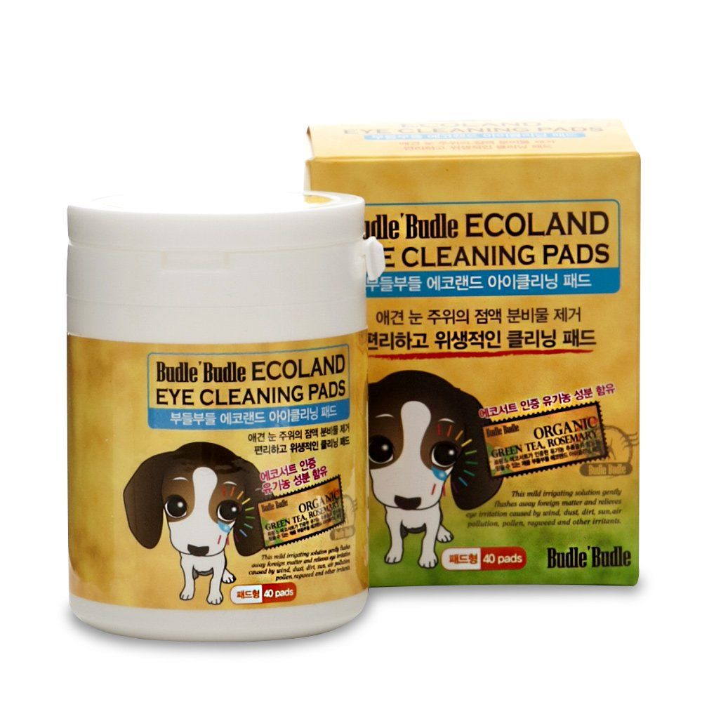 Budle Budle Ecoland Eye Cleaning Pads 40pcs In A Container For Dogs Cats Pets Tear Stain Remover Wipes Removes M Dog Dry Skin Tear Stains Dog Supplies Online
