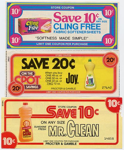 Examples of discount coupons