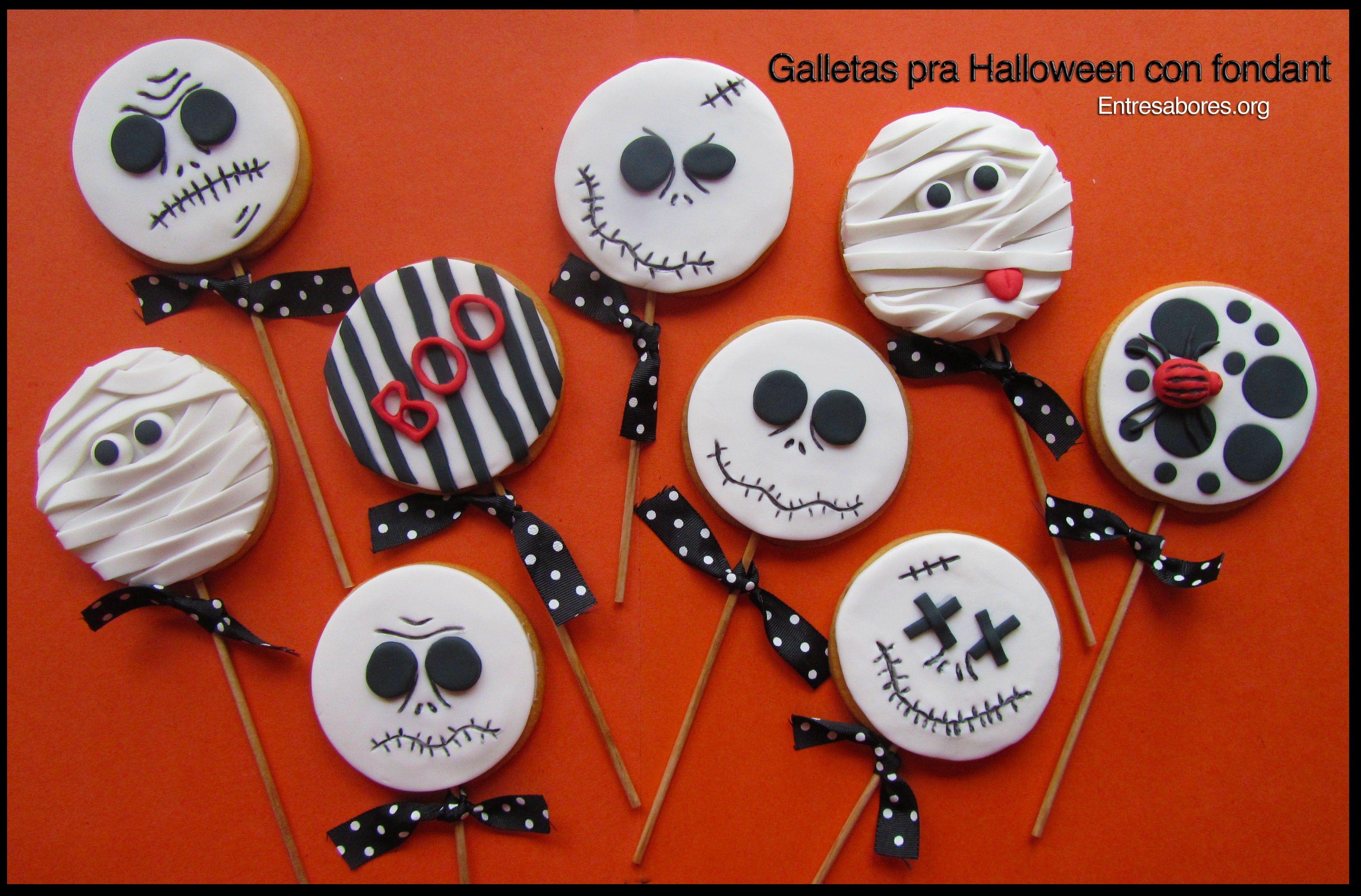 Galletas para Halloween con fondant Halloween galletas Pinterest