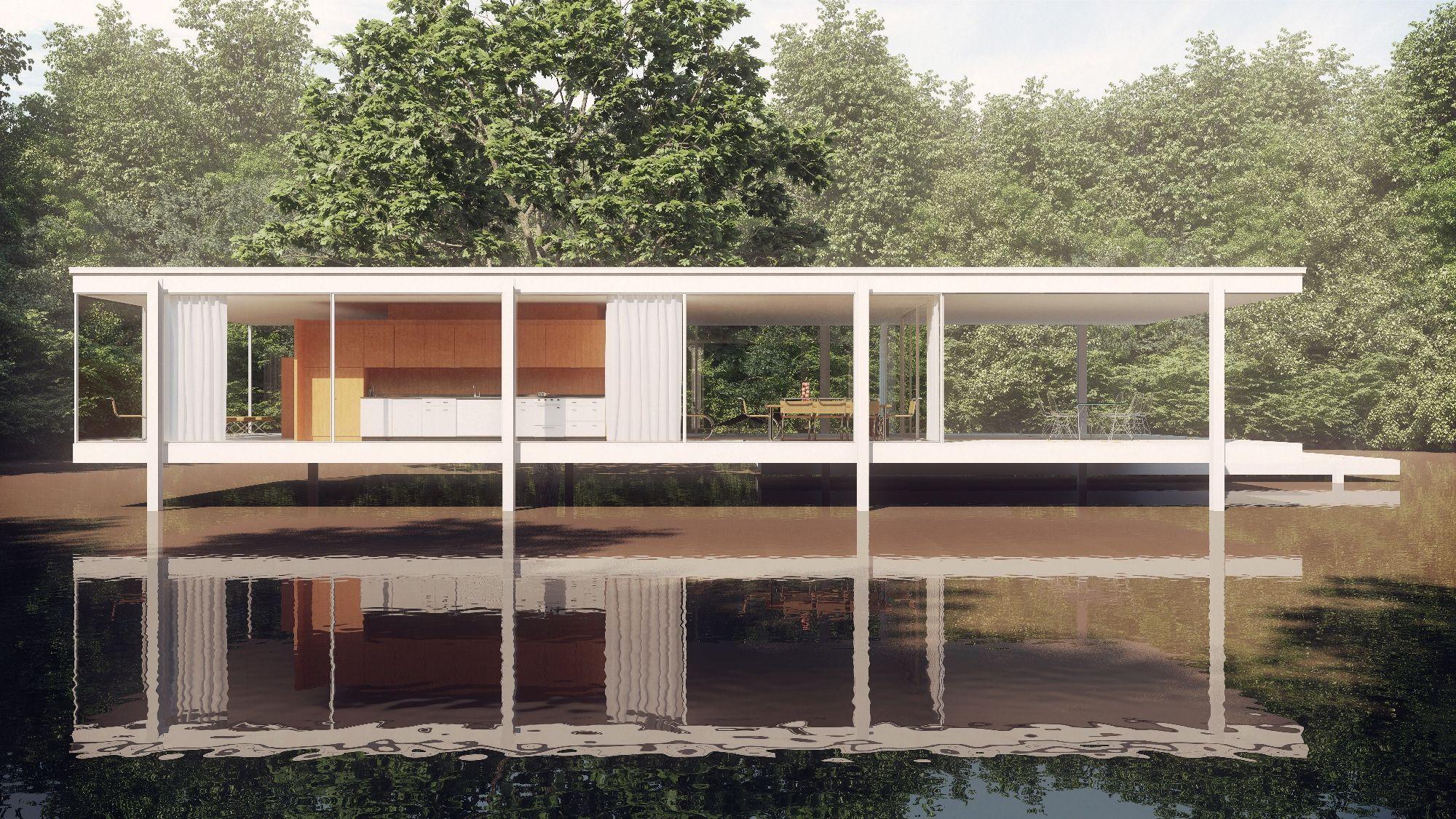 Farnsworth House Pesquisa Do Google Architecture