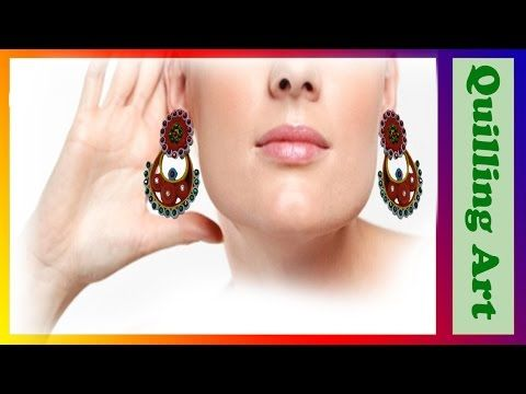 How to make Quilling Earrings Paper Quilling Art -Quilling Made Easy - YouTube