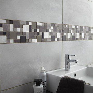 Faïence mur gris clair, Denver l30 x L60 cm Salle de bain - Salle De Bain Moderne Grise