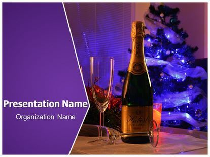 get this free celebration champagne powerpoint template with