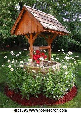Picturess of heart wishing wells stock image of wishing for Garden wishing well designs