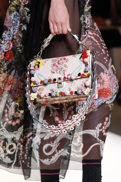 See detail photos from the Fendi Spring 2017 show at Milan Fashion Week.